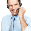 Royalty-Free Stock Photo: Charming customer service agent talking on headset