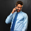 Royalty-Free Stock Photo: Business man talking on cellphone