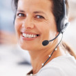 Royalty-Free Stock Photo: Customer service representative smiling