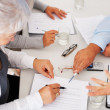Business busy discussing financial matter - Stock Photo