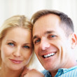 Royalty-Free Stock Photo: Closeup portrait of a smiling love couple
