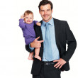 Royalty-Free Stock Photo: Smiling business man and baby