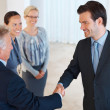 Royalty-Free Stock Photo: Happy business shaking hands