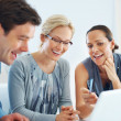 Business having happy conversation - Stock Photo