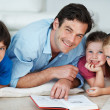 Royalty-Free Stock Photo: Happy family reading