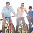 Royalty-Free Stock Photo: Family cycling In countryside