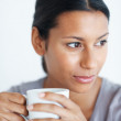 Thoughtful coffee break - Stock Photo