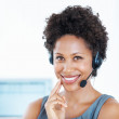 Royalty-Free Stock Photo: Confident call center employee