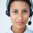 Successful call center operator - Stock Photo