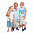 Royalty-Free Stock Photo: Man smiling with kids