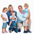 Royalty-Free Stock Photo: Caucasian couple with three kids