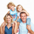 Royalty-Free Stock Photo: Happy family smiling together