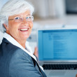 Business woman using laptop - Foto Stock