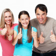 Royalty-Free Stock Photo: Family showing success sign