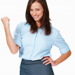 Victorious young business woman - Stockfoto