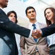 Royalty-Free Stock Photo: Hand shake between associates