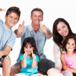 Royalty-Free Stock Photo: Family showing thumbs up