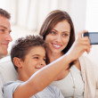 Royalty-Free Stock Photo: Happy family taking self