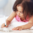 Royalty-Free Stock Photo: Little girl doing home work