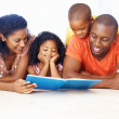 Royalty-Free Stock Photo: African American family reading book together