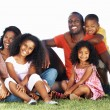 Royalty-Free Stock Photo: Smiling African American family in park