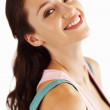 Perfect smile by young woman - Stock Photo