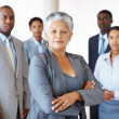 Successful female leader her business team - Stock Photo
