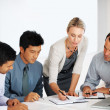 Royalty-Free Stock Photo: Business team having work discussion