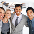 Royalty-Free Stock Photo: Overjoyed business team