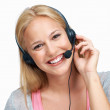 Royalty-Free Stock Photo: Female call center employee