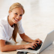 Beautiful woman browsing internet - Foto Stock