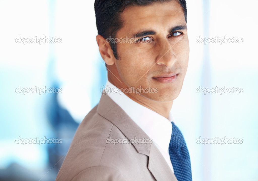 Closeup of confident young business man — Stock Photo #7850415