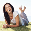 Woman enjoying free time outdoors - Foto de Stock