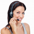 Happy phone operator - Stock Photo