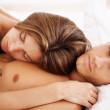 Royalty-Free Stock Photo: Relaxed couple in bed
