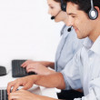 Royalty-Free Stock Photo: Happy call center workers