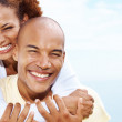 Closeup of a beautiful young couple in love - Stock Photo