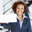 Royalty-Free Stock Photo: Service executive holding blank card