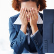 Frustrated business woman - Stock Photo