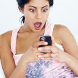 Surprised texting - Stock Photo