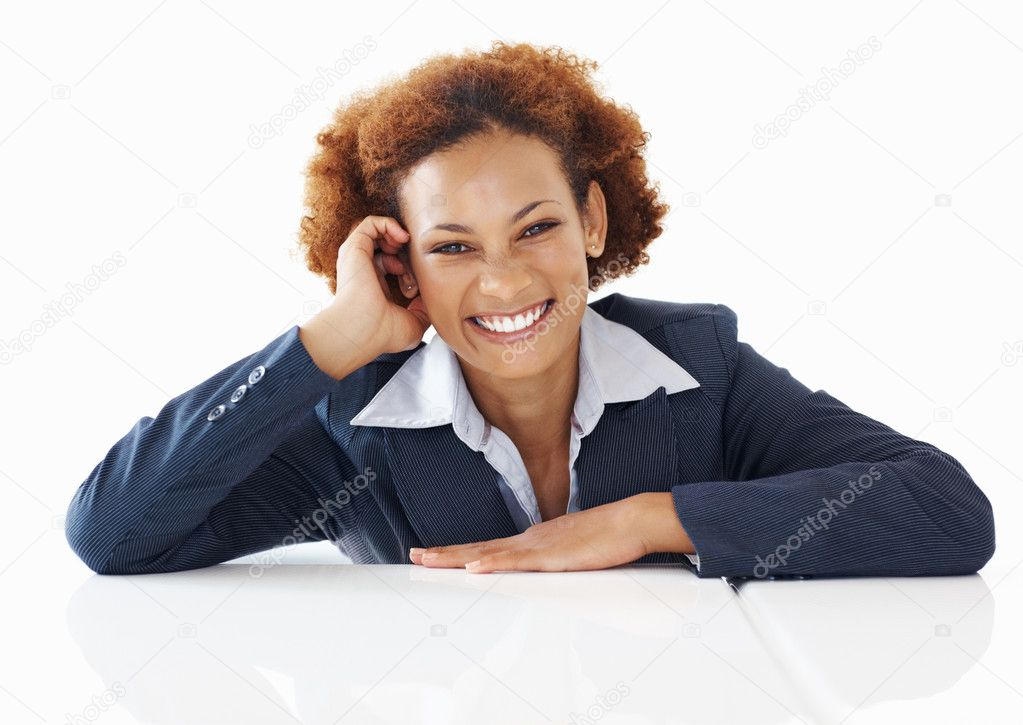 Portrait of African American business woman with beautiful smile — Stock Photo #7878606