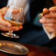 Cigar and cognac - Stockfoto