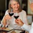 Royalty-Free Stock Photo: Elderly woman having dinner with her husband at restaurant
