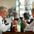 Royalty-Free Stock Photo: Mature couple dinning at a nice restaurant