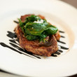 Gourmet fillet steak at five star restaurant - Stockfoto