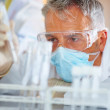 Male scientist doing biochemical investigation - Stock Photo