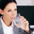 Royalty-Free Stock Photo: Business woman drinking water