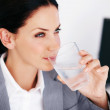 Royalty-Free Stock Photo: Executive drinking water