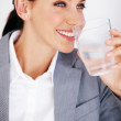 Royalty-Free Stock Photo: Female executive drinking water