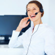 Royalty-Free Stock Photo: Call center woman